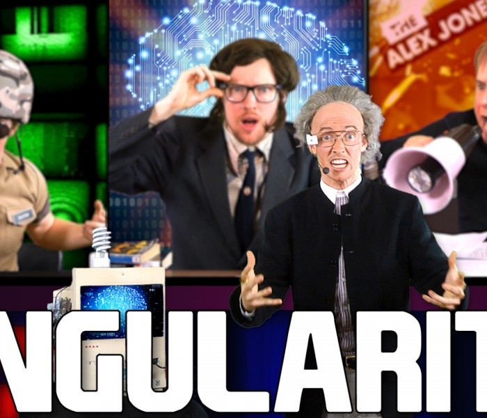 RAP NEWS 28: The Singularity – feat. Ray Kurzweil & Alex Jones